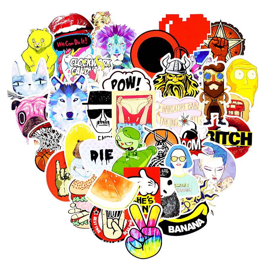 Diy stickers posters wall stickers for kids rooms home decor sticker on laptop skateboar ...