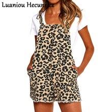 CHU Ni комбинезон без рукавов с леопардовым принтом женские короткие костюмы с открытой спиной на пуговицах Женский комбинезон ON47