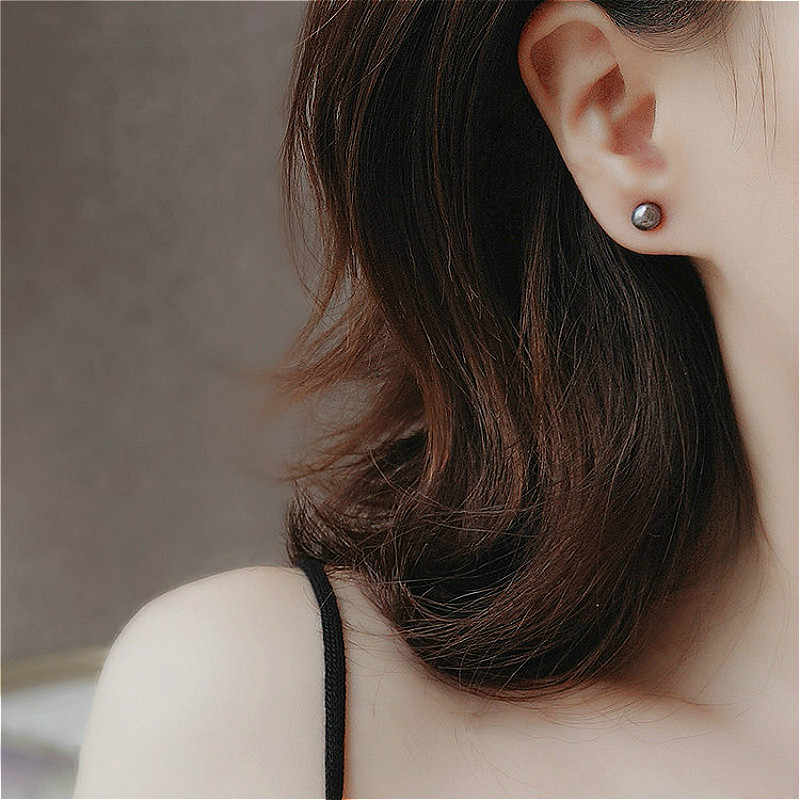 (no Packing Box)1 Pair Jewelry New Design Seven Color Pearl Ear Stud Earrings For Women New Accessories Wholesale 4mm 6mm 8mm