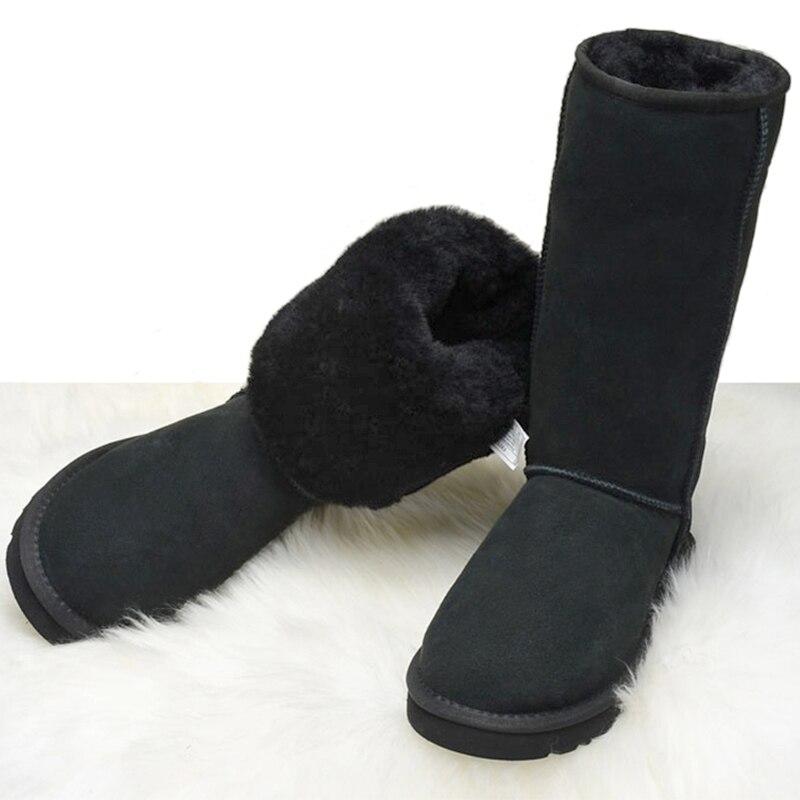 Bottes de neige pour femmes de Style australien bottes d'hiver imperméables en cuir de vache véritable bottes chaudes pour femmes