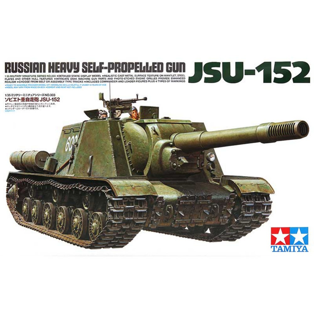 OHS Tamiya 35303 1/35 Russian Heavy Self Propelled Gun JSU152 Military Assembly AFV Model Building Kits oh tobyfancy tamiya 1 35 ww2 german steyr type 1500a 01 military miniature ready to assembly model kit