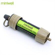 Miniwell wasser filter system mit 2000 Liter filtration kapazität für outdoor sport camping notfall überleben werkzeug