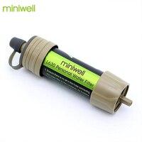 Miniwell фильтр для воды система с 2000 литров фильтрации емкость для спорта на открытом воздухе Кемпинг аварийный инструмент выживания
