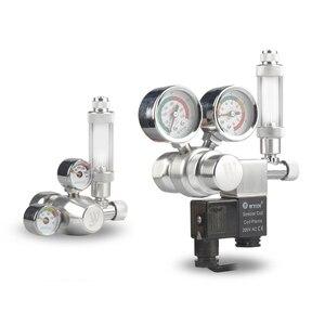 Аквариумный мини-регулятор CO2 с контрольным клапаном, счетчик пузырей, магнитный соленоидный аквариумный клапан, датчик давления CO2 для рыб