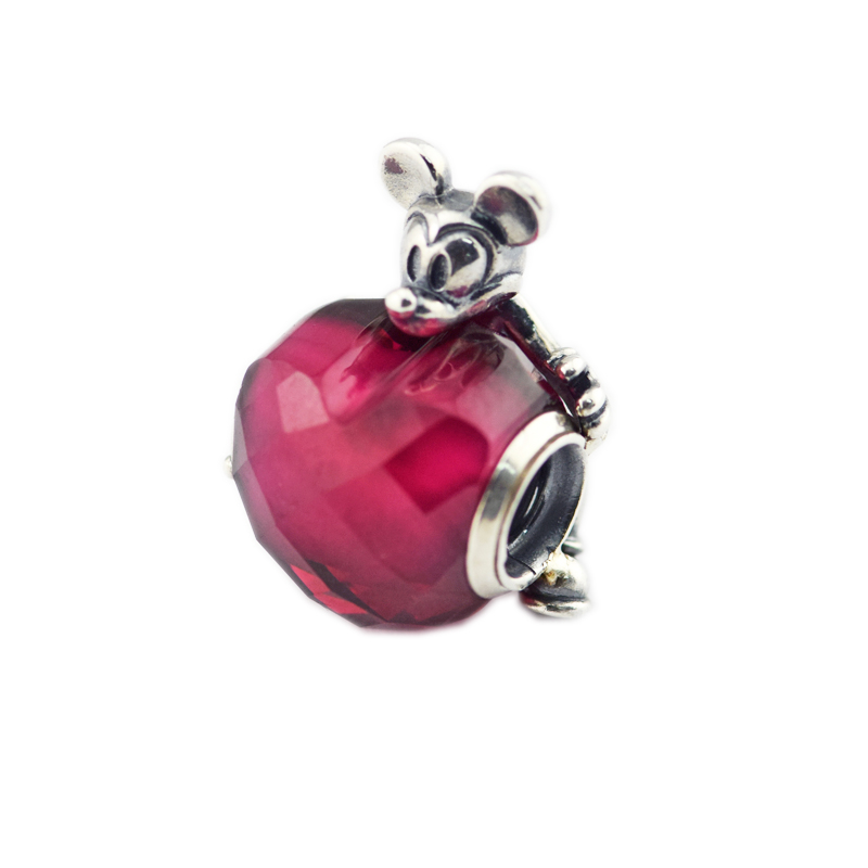 Fits for Pandora Charms Bracelets Mouse Love Beads 100% 925 Sterling Silver Jewelry Free Shipping