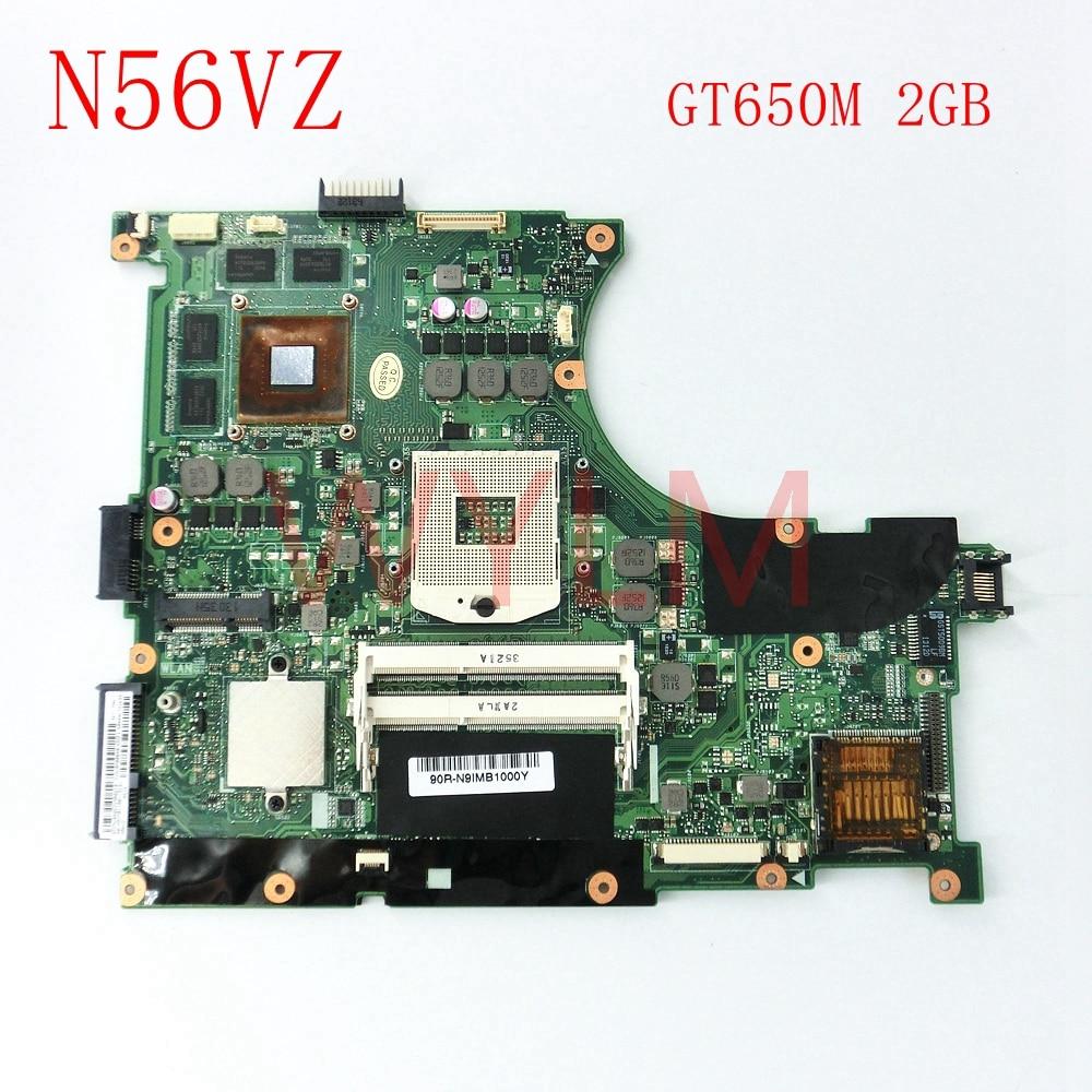 free shipping N56VZ GT650M 2GB REV2.3 mainboard For ASUS N56VZ N56VM N56V N56VJ N56VV N56VB Laptop motherboard 60-N9IMB1100-D18