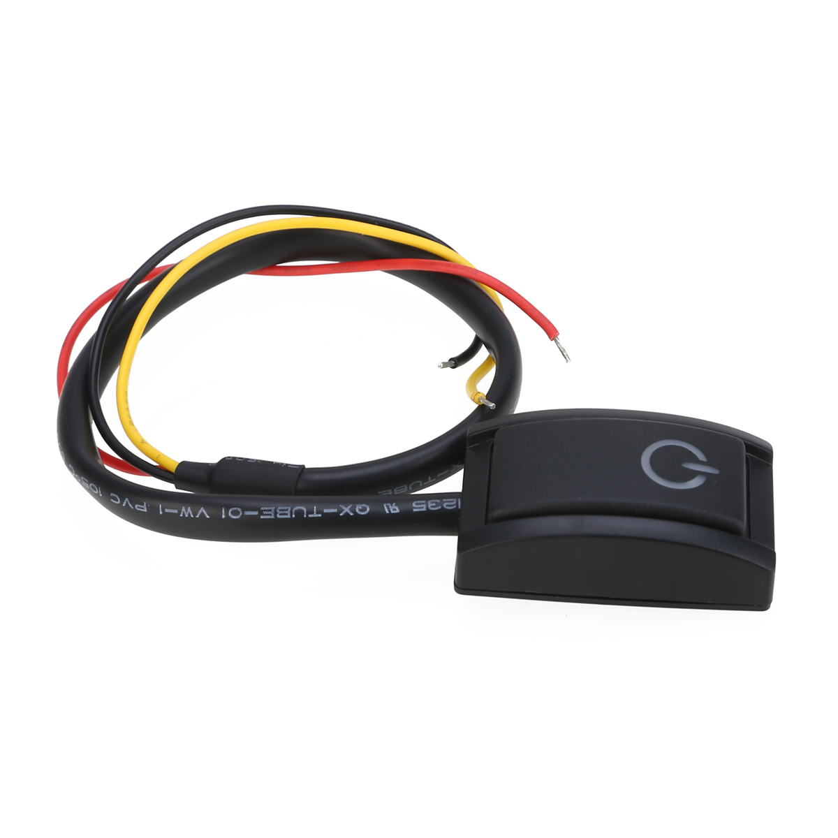 DC 12V 200mA 2.4W Paste Type LED Light Power Push Button Switch Self Locking Type On-off  Switches For Car Motorcycle