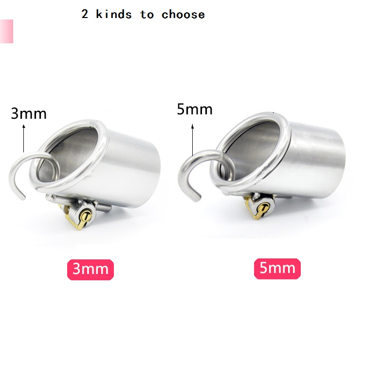 Titanium DRing Pa Lock Glans Piercing Male Chastity Device Slave