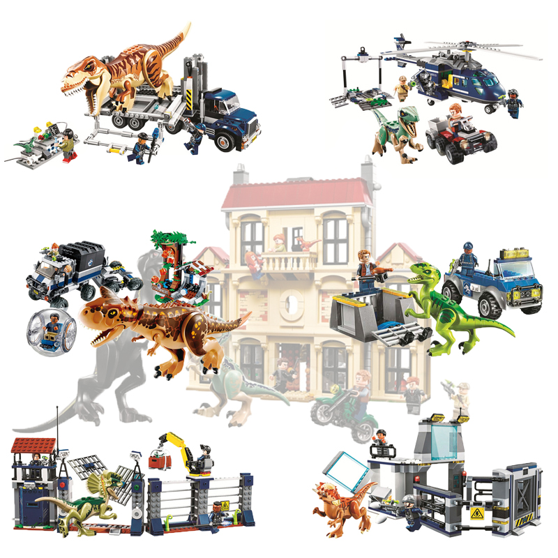 Jurassic World Dinosaur Set 10928 10927 10926 Compatible Legoings 75930 75932 Model Building Kits Blocks Bricks Toy Gift wange 929pcs dinosaur 6 large capsule toy building blocks kit jurassic kids gift toy model building bricks compatible with lego