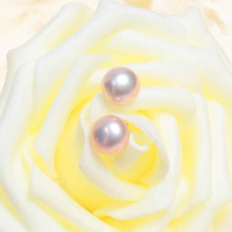 ASHIQI Tự Nhiên Ngọc Trai Nước Ngọt Bông Tai Nữ Thực Mặt Dây Chuyền Trang Sức Bạc 925 Tặng Giá Sỉ
