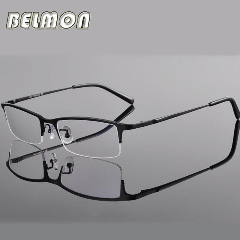 86eac3fe5990f Armação de Óculos Homens Computador Optical Olho Óculos de Titânio Para O  Sexo Masculino Transparente Limpar Lente Armacao de RS270