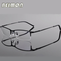Spectacle Frame Eyeglasses Men Computer Optical Titanium Eye Glasses For Male Transparent Clear Lens Armacao Oculos