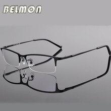 Brillengestell brillen männer computer optische titanium brillen für männer transparente klare linse armacao oculos de rs270