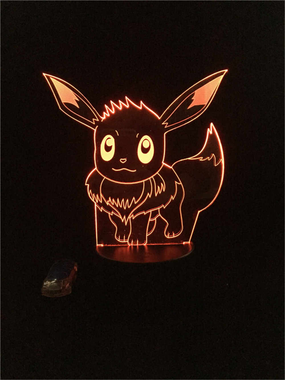 Christmas Eevee.Gaopin 3d Lamp Kawaii Cartoon Figure Pokemon Game Eevee Usb Led Night Light Illusion Lighting Christmas Gift Lava Home Deocr