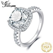 JewelryPalace Cushion 3ct Wedding Halo Solitaire Engagement Ring 925 Sterling Silver Ring for  Wedding Jewelry недорого