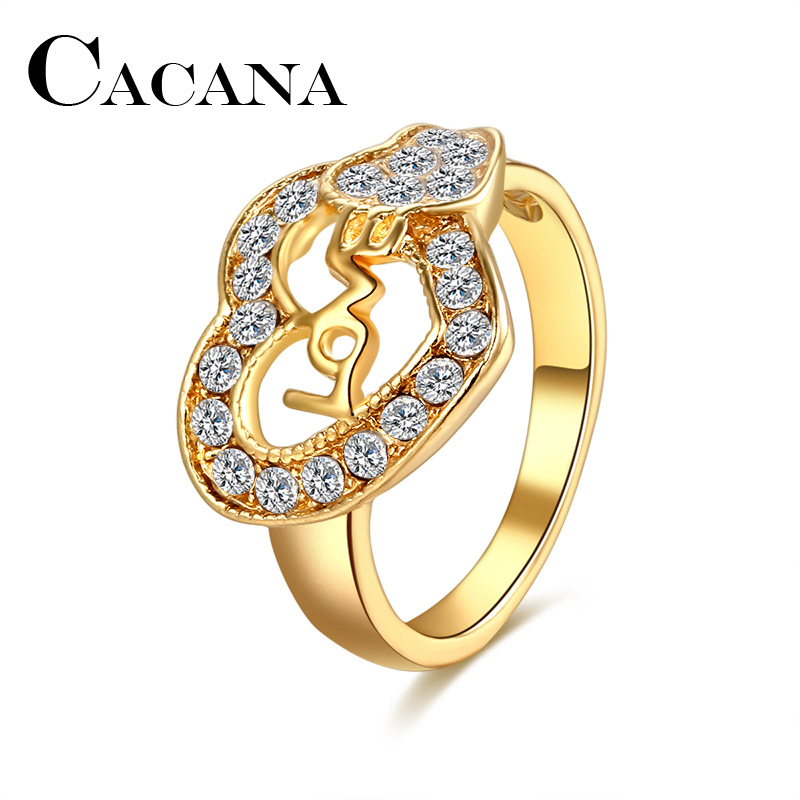 CACANA Wedding Bands Rings For Women love In Heart