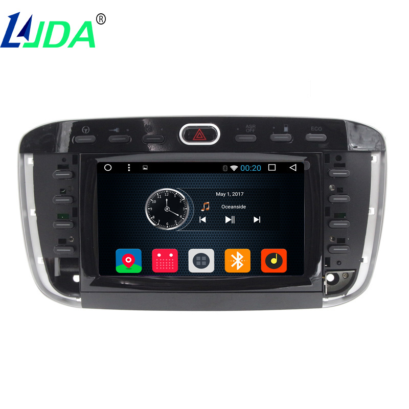 LJDA Auto Radio 1 din Android 6.0 DVD Do Carro de Som Para Fiat Linea Punto  Abarth Punto EVO 2012 2013 Navegação GPS Bluetooth CANBUS ca802ef9e0