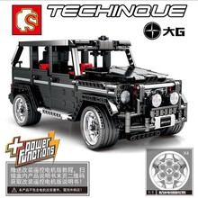 Sembo 701960 Black Mercedesal-benzg G500 Model Building Blocks Bricks Kids Toys For Children Compatible Legoings Technic Series technic series race car children bricks model building kits blocks toys for boys christmas gift compatible legoings diy kids toy
