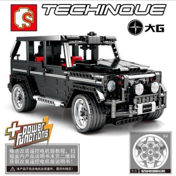Sembo 701960 Black Mercedesal-benzg G500 Model Building Blocks Bricks Kids Toys For Children suitable  Technic Series