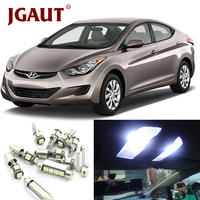 JGAUT Car LED Light Bulbs White Interior Package Kit For 2011 2015 Hyundai Elantra Map Dome