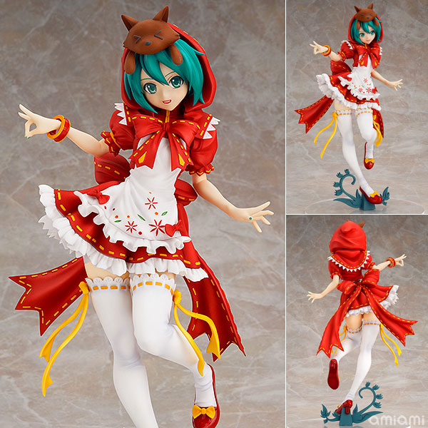 Anime Hatsune Miku Red Riding Hood Project DIVA 2nd PVC Action Figure Collectible Model Toy 25cm KT650 2017 new hatsune miku figma pvc action figure collectible kids model toy 14cm dcy017 anime juguetes hot sale free shipping