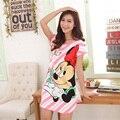 Camisolas Soltas das Mulheres novas do Verão pijama roupa camisola salão sono das mulheres sleepwear de Manga Curta menina G1162