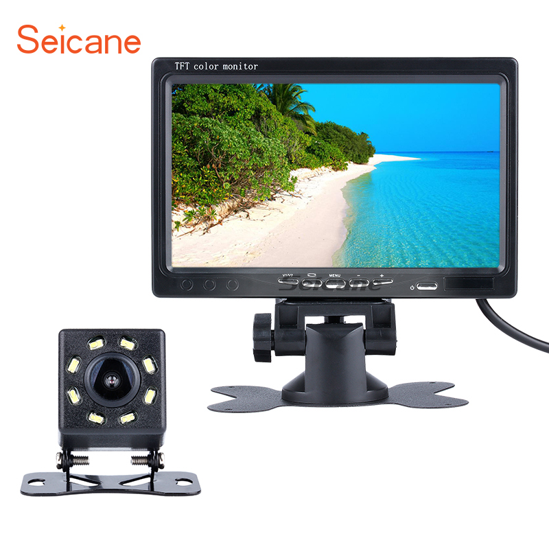 Seicane Universal HD 1024*600 Car Auto Parking Monitor Rearview Camera Backup Reverse System Digital Video Recoder DVR TFT LCD