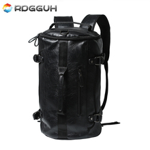 RDGGUH Luxury Brand Leather Backpack Men New Fashion Multifunctional Laptop Backpacks Large Capacity Casual Travel Bag Mochila