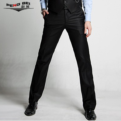 New 2015 Male Business style trousers men spring and autumn formal easy slim straight fashion casual suit pants men's clothing