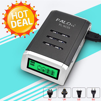 4 Slots LCD Display Smart Fast Intelligent Battery Charger For Toy Flashlight Remote Controller AA AAA