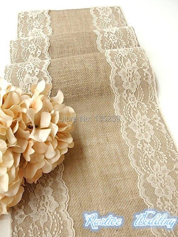 cm arpillera corredor de la tabla tabla de la boda de tela con