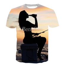 93f6d236 Jerwill Mens T-shirt 3D Sublimation Printed Catfish Fish Hobby Hip Hop T  Shirt For