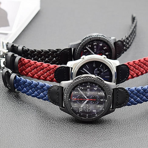 22mm Genuine watch Leather band strap for samsung gear s3 huami watch high quality watchbands смарт часы samsung gear s2 black