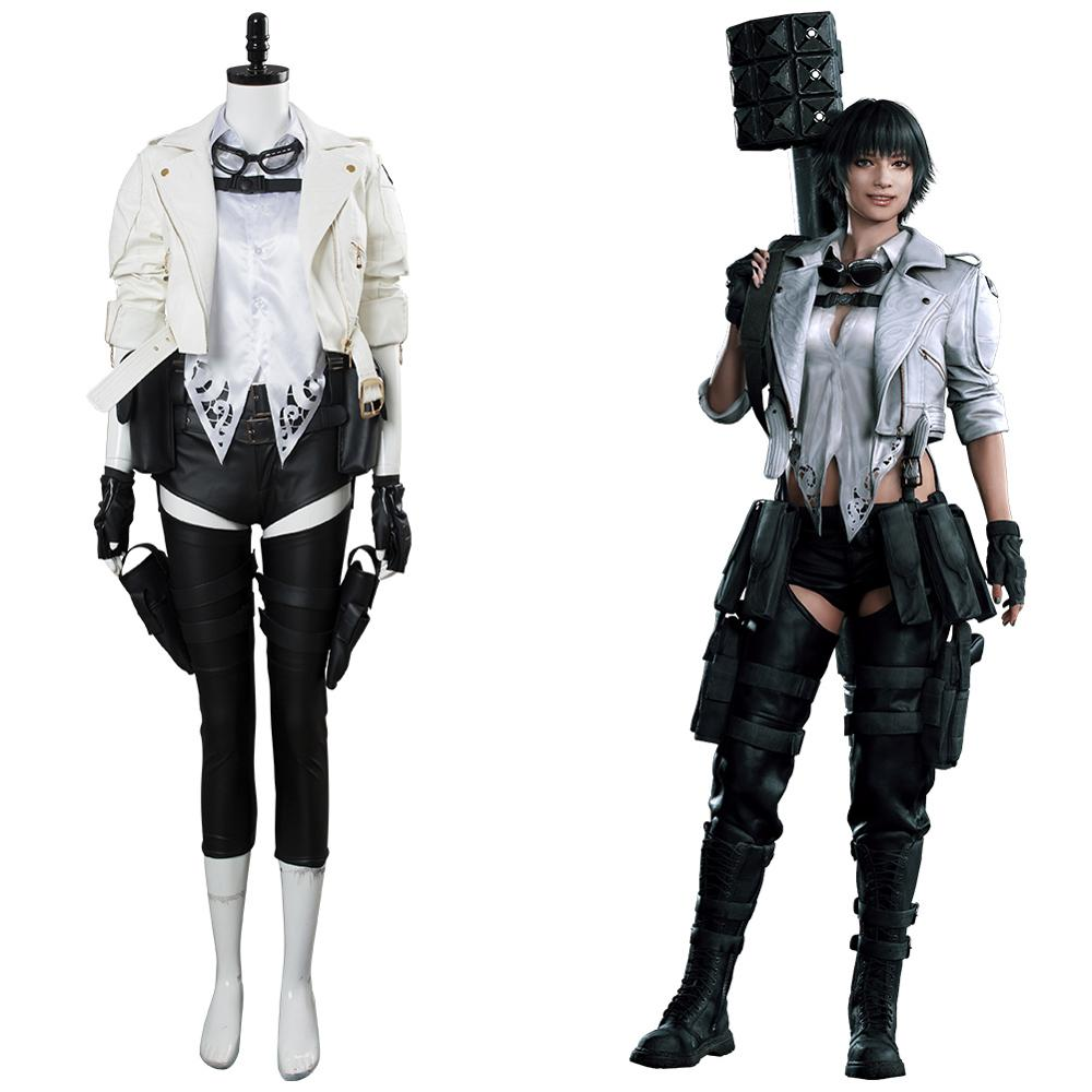 New DMC Cosplay Mary Costume Lady Cosplay DMC 5 Uniform Outfit Full Set Adult Halloween Carnival Women Girls Role Play Costume