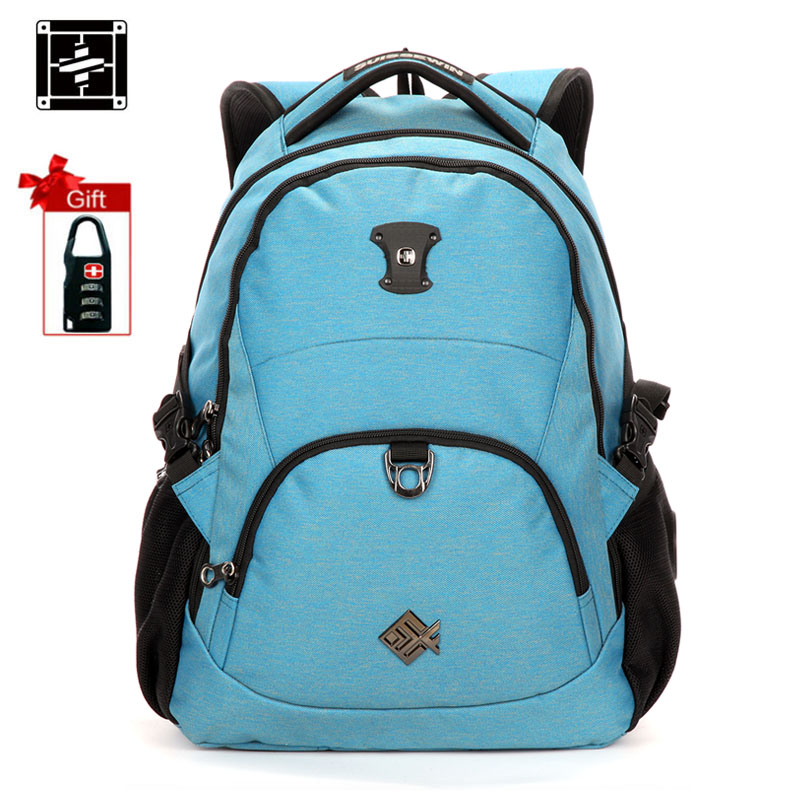 Suissewin Travel backpack school bag bagpack for men and women Shoulder Bag mochila 15.6 laptop bag New Arrival Korean Style korean edition new middle school students college style double shoulder bag leisure pack men and women s travel backpack