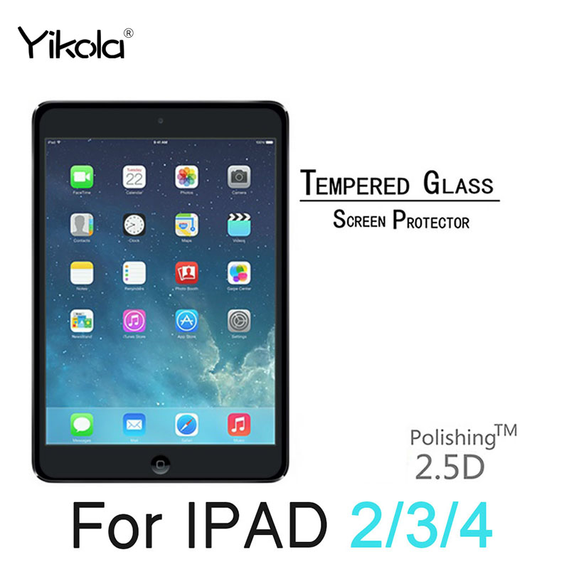 For Apple I PAD mini 1 2 3 Screen Protector For Apple I pad 2 3 4 Tempered Glass High Clear Ultra thin Scratch-Resistant 9.7
