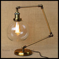 AC100-240V vintage neo-classical American bar iron adjustable bed study bedroom Hall Desk decoration table lamp escritorio