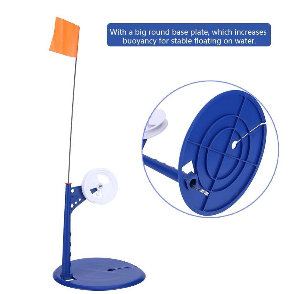 Nylon Ice Fishing Flag Warning Safety Fishing Rod Tip-Up Compact Metal Pole