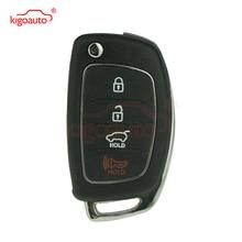 Elantra Genesis flip key shell 3 button with panic TOY49 for Hyundai