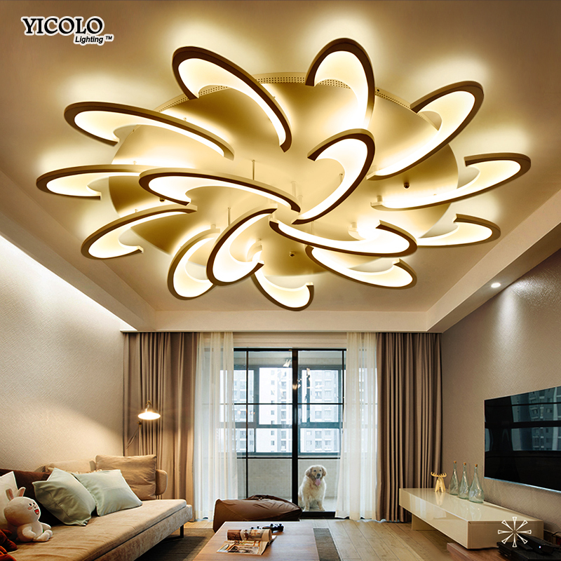 Remote Control Led Ceiling Light With Ultra-thin Acrylic Lamp Ceiling For Living Room Bed Room Flush Mount Lamparas De Techo Ceiling Lights
