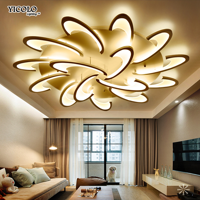Remote control led ceiling light with Ultra-thin Acrylic lamp ceiling for living room bed room flush mount lamparas de techo