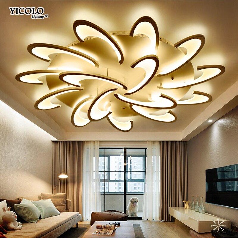 Télécommande led plafonnier avec Ultra-mince Acrylique lampe plafond pour salon chambre chambre encastré lamparas de techo