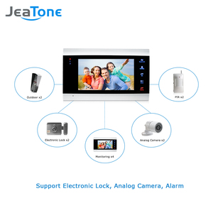 Image 4 - JeaTone 7 Inch Indoor Monitor Video Door Phone Doorbell Intercom System Video Recording Photo Taking Silver Wall Mounting