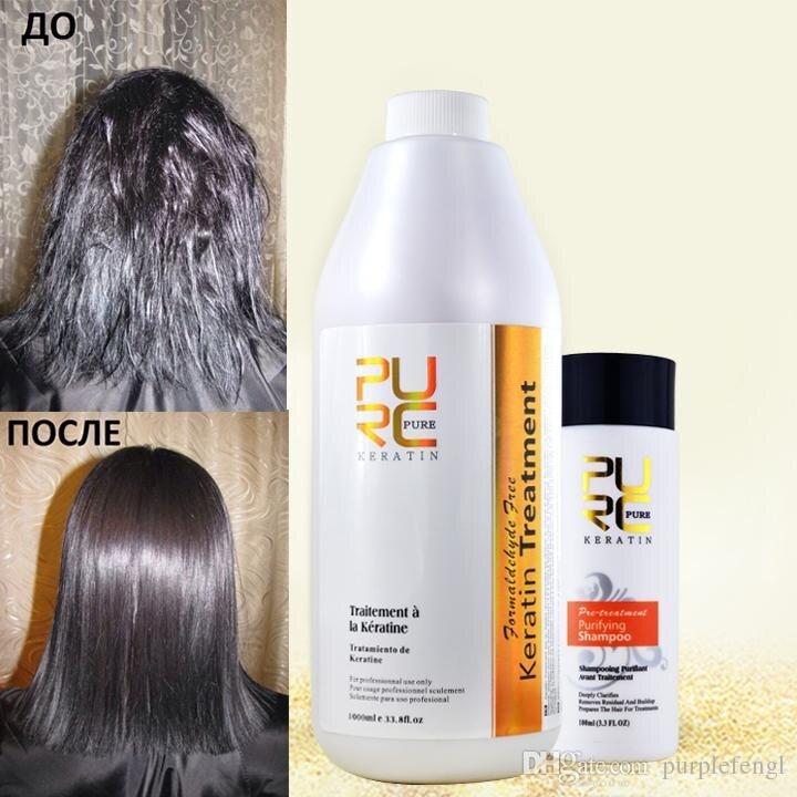Tratamento de cabelo queratina brasileiro formaldeído 5%