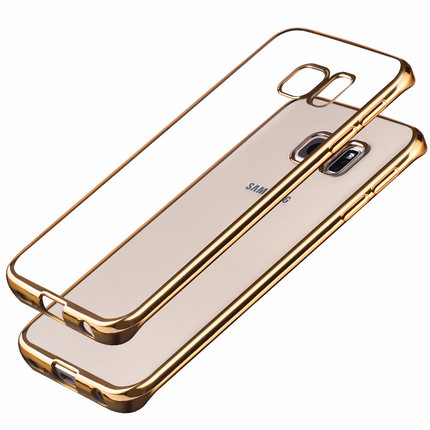 Plating TPU Case for Samsung Galaxy S5 S6 S7 Edge A5 A7 A8 A9 Cases New Luxury Soft Electroplating Simple Shell S A 5 6 <font><b>7</b></font> <font><b>8</b></font> 9 by