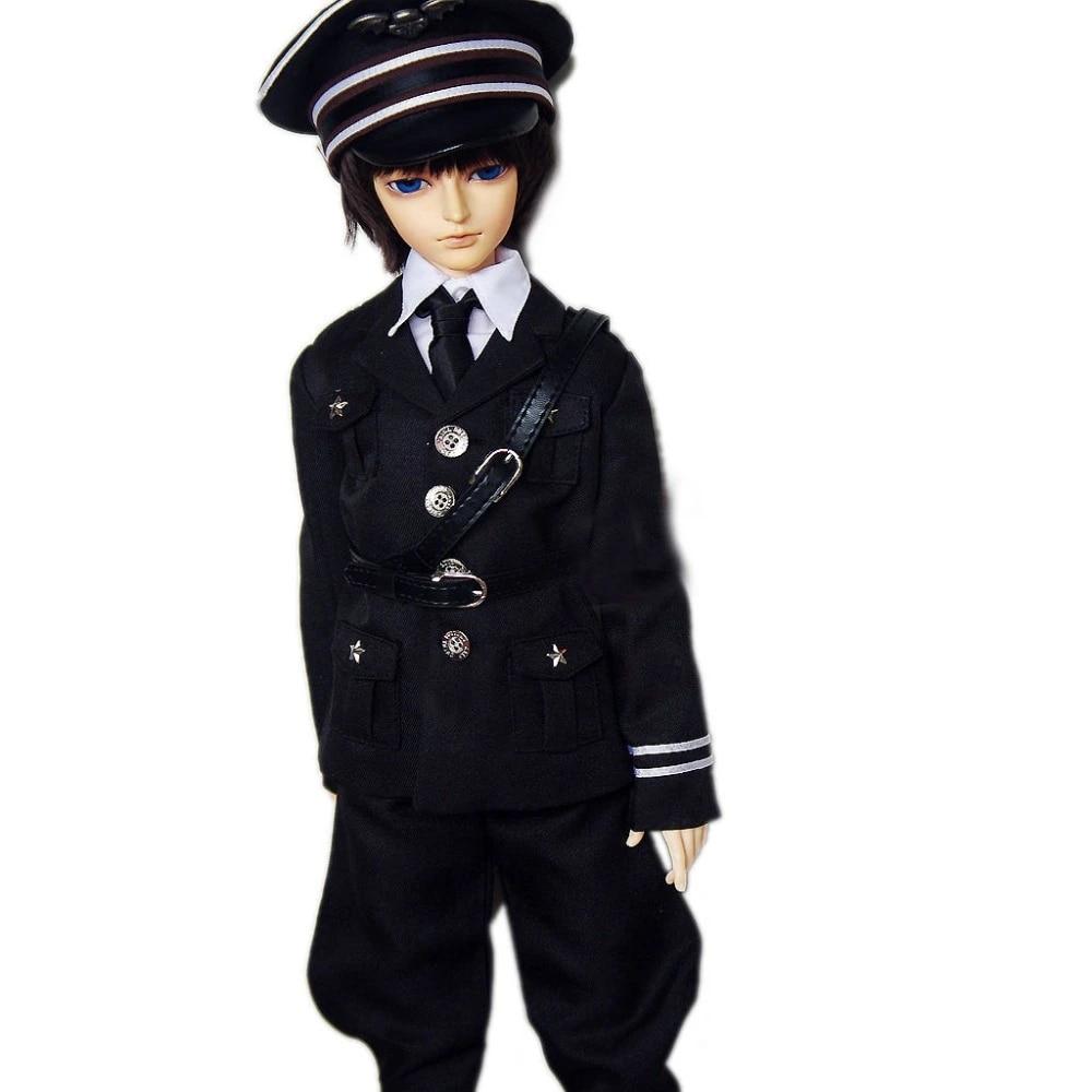 Army sweatshirt jacket clothes for BJD MSD slim 14 doll otaku kawaii military