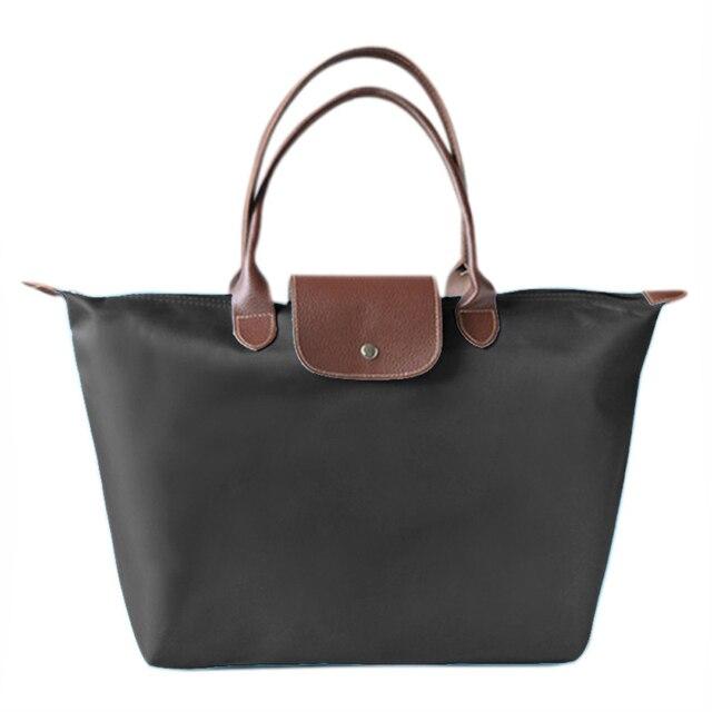 Fashion Hobos Women Travel Handbag Shoulder Bag Foldable Shopping Bag Eco-friendly Supermarket Grocery Bags Reusable