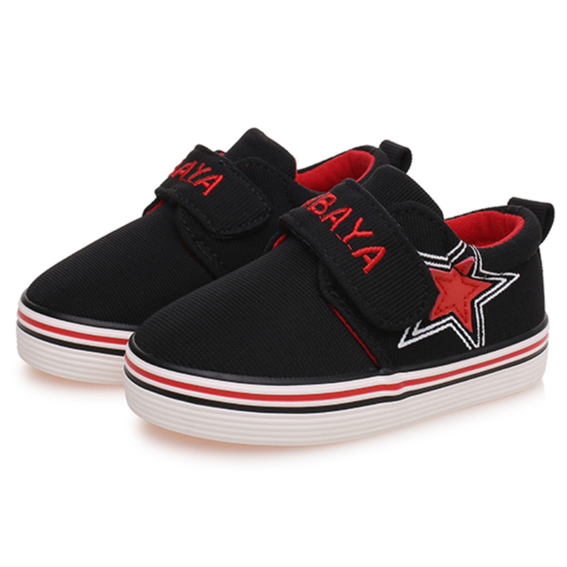 2015 casual brand Autumn star student soft sole cotton canvas solid toddle loafers infant sneakers baby boy first walkers shoes