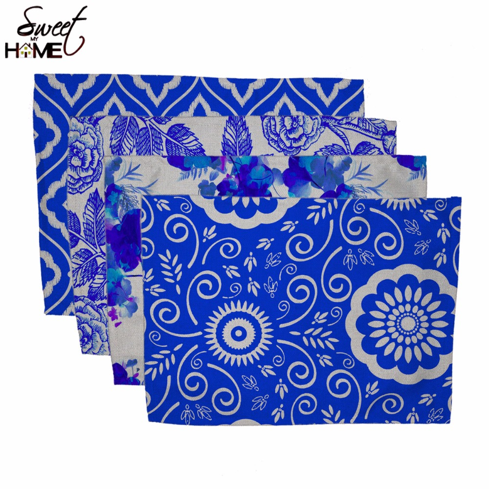 Merveilleux Cotton Linen China Blue Designs Printed Table Dishware Place Mats For  Dinner Lemon Kitchen Accessories Cup Wine Mat In Mats U0026 Pads From Home U0026  Garden On ...