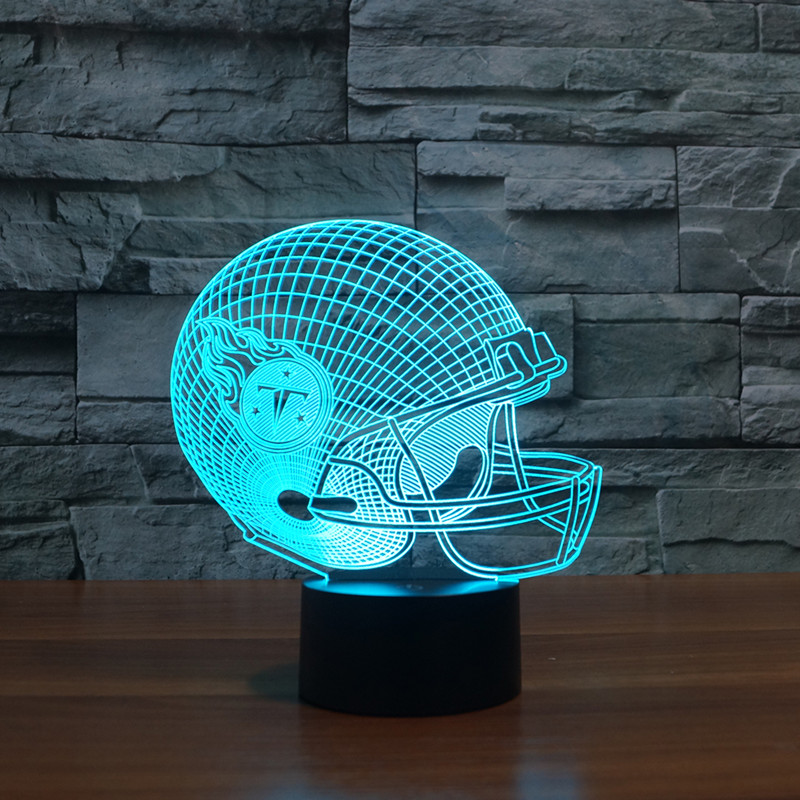 LED night light 3D effect Tennessee Titans football team helmet